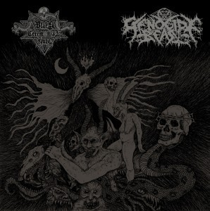 BLACK CEREMONIAL KULT / GENOCIDE BEAST - Split CD